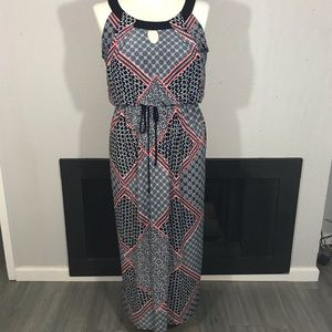 EnFocus Red, White, Blue Maxi Dress size 14
